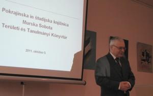 Papp József előadása a muraszombati területi könyvtárban