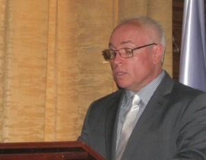 Hajnal Jenő a VMMI igazgatója beszédet mond (Fotó: Tolnai)