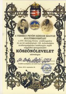 Dr Boka László az OSZK tudományos igazgatója is oklevelet kapott