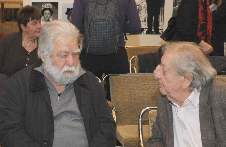 Sára Sándor és Makk Károly a Filmgyári Capriccio kiállításon