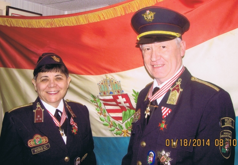 Kiss János Nemzetőr ezredes és felesége Kiss Cornelia Nemzetőr százados