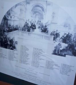 Rakssányi Dezső elpusztult olvasótermi freskójának képe