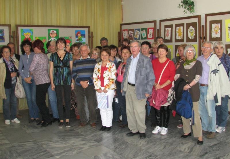 Látogató csoportunk a komáromi Szinnyey József Könyvtárban