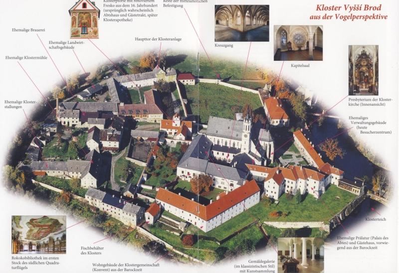 a Vyssi Brod-i kolostor látképe Forrás:A kolostor prospektusa