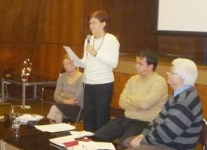 Kovács Beatrix az MKE Választási Szabályait ismerteti