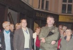 Korpás Árpád és Albert Lajos vezetőink Pozsonyban