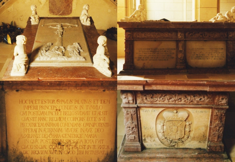 Esterházy Orsolya síremléke Kismartonban az Esterházy Kriptában
