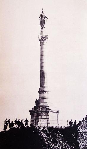 Az egykori dévényi millenniumi emlékmű 1896,