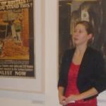 Katona Anikó bemutatja a plakátkiállítást