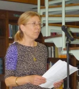 Wittinghoff Judit titkári beszámolóját tartja