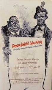 Az élclap-kiállítás plakátja
