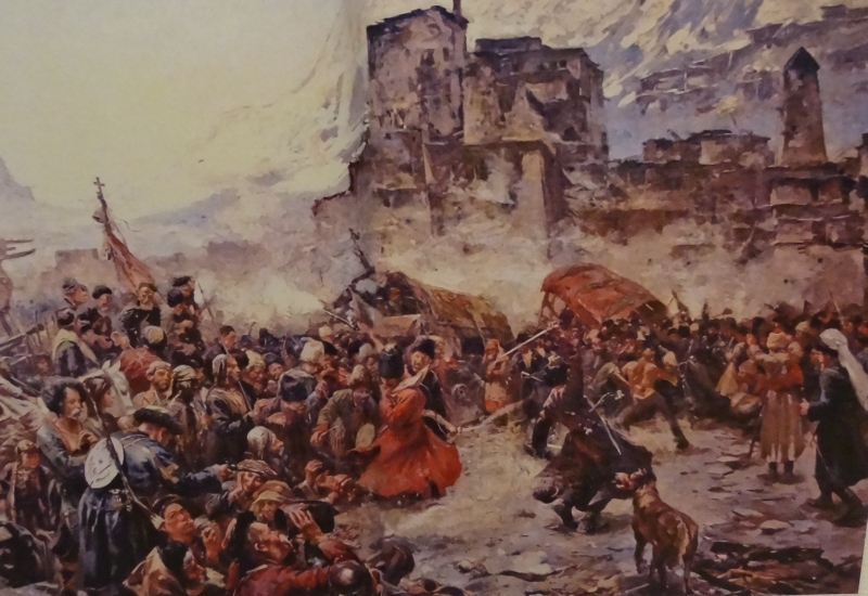 Eisenhuit Ferenc: Népünnepély a Kaukázusban című képe 1900