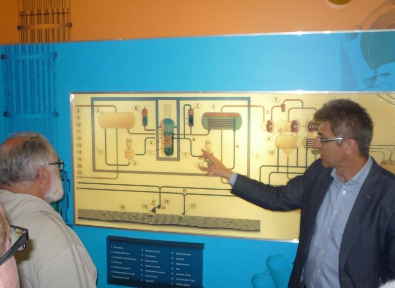 Dudinszki Csaba mérnök, a csoportunk vezetője az Atomerőműben