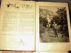 Herczeg Ferenc szőlőskertjében