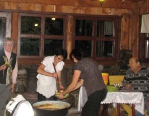 Kondérban főtt vacsora Tusnádfüdőn