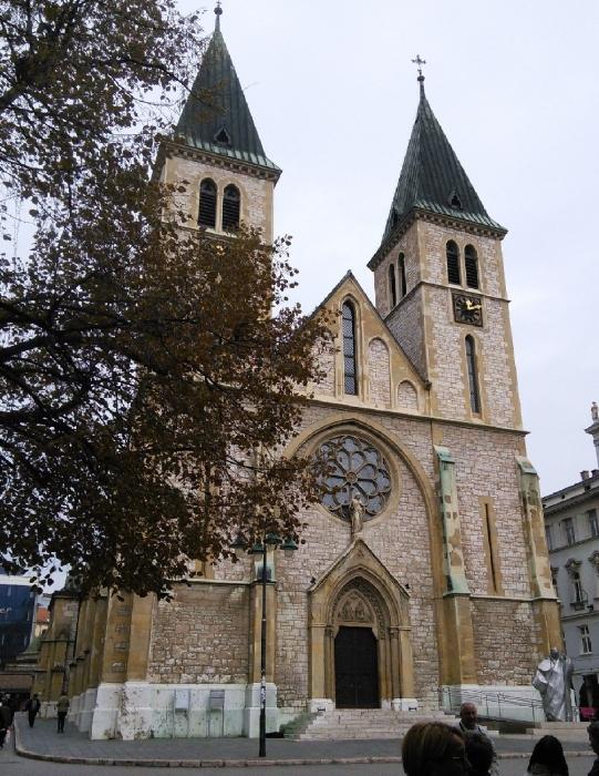 A katolikus Jézus Szíve Székesegyház Szarajevoban