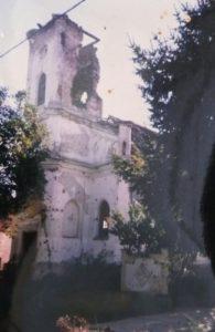 Kórógy lerombolt temploma