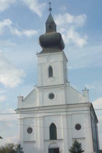 Az újjáépült kórógyi templom