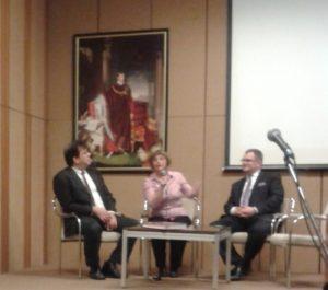 Fekete Dávid, Kopcsay Ágnes és Kurutz Márton beszélgetnek a a kötetben megjelent plakátükról