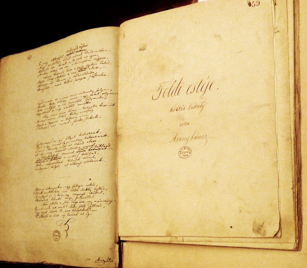 Toldi estéje - eredeti kézirata az OSZK-ban