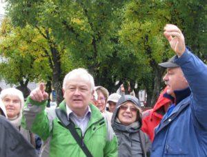 Tadeusz Krystof Przemysl óvárosában vezeti csoportunkat