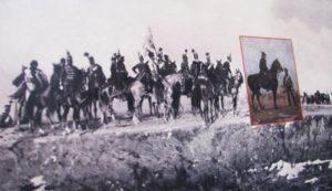Bem József a szebeni csatát irányítja (részlet a körképből)
