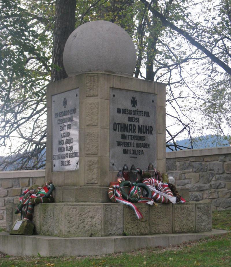 Muhr Ottmar emlékműve Limanowán