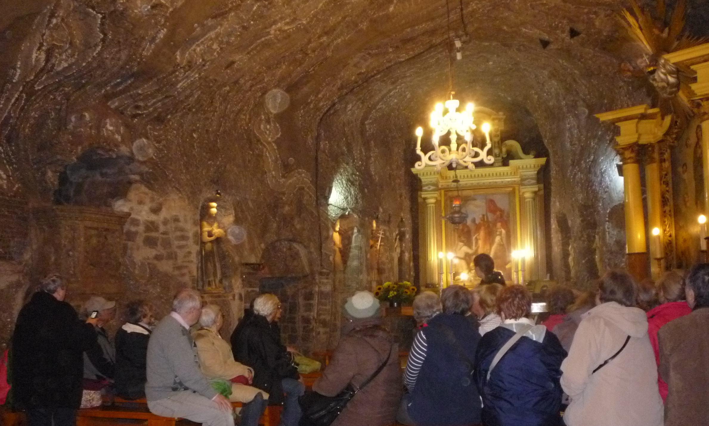 A Bochina sóbánya templom-terme 300 m mélységben