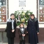 Koszorúzás Sallai István kisszállási emléktáblájánál