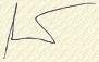 Zsidai József aláírása